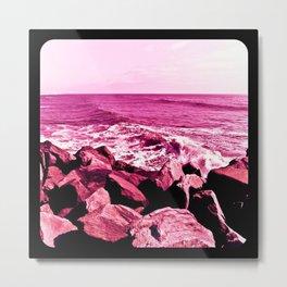South Jetty Rocks, Sunset Beach, PacificOcean, Oregon Coast Metal Print