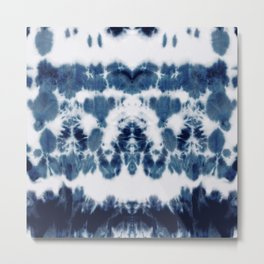 Shibori Not Sorry Metal Print