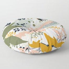 Abstract strokes still life Floor Pillow