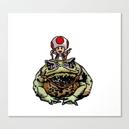 Toad Racing Canvas Print