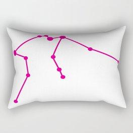 Aquarius (Magenta & White) Rectangular Pillow