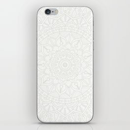 Cream on White Mandala Circle of Life iPhone Skin