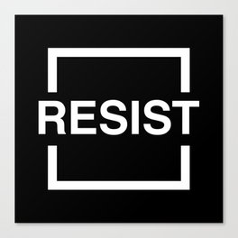 Resist 2 Canvas Print