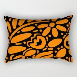 Beautiful Orange Otomi Rectangular Pillow