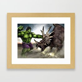 TriceraSMASH Framed Art Print