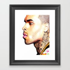 Breezy Chris Portrait Framed Art Print