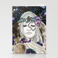 luna Stationery Cards featuring Luna by Jenndalyn