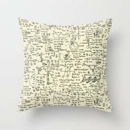Physics Equations // Parchment Throw Pillow
