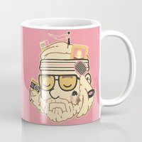 tenenbaums Mugs featuring The Baumer by Derek Eads