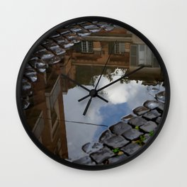 Roma -It`s a rainy day Wall Clock