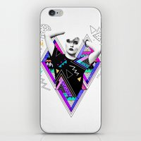 kris tate iPhone & iPod Skins featuring Heart Of Glass - Kris Tate x Ruben Ireland by Ruben Ireland