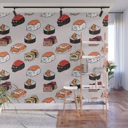 Sushi Persian Cat Wall Mural
