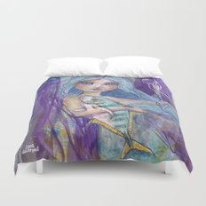 Plenty more Fish in the Sea by Jane Davenport Duvet Cover