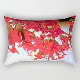 Red Kalanchoe Flowers Rectangular Pillow