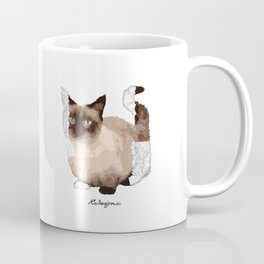 Geometric Animal - Munchkin Cat Coffee Mug