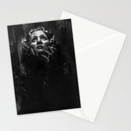 Marlene Dietrtrich black and white photographic portrait Stationery Cards