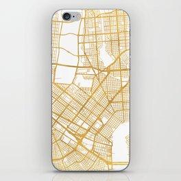 NEW ORLEANS LOUISIANA CITY STREET MAP ART iPhone Skin