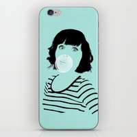 bubblegum iPhone & iPod Skins featuring Bubblegum by FalcaoLucas