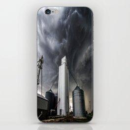 Skyscraper - Storm Over Grain Elevator in Kansas Town iPhone Skin