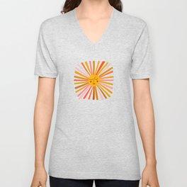 Sunshine – Retro Ochre Palette Unisex V-Neck