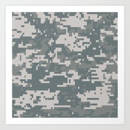 Digital Camouflage Art Print