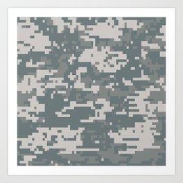 Digital Camouflage Art Print