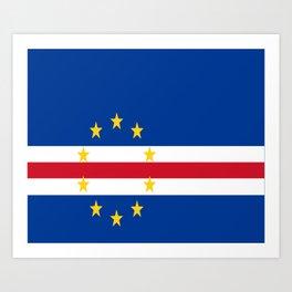 Flag of Cape Verde Art Print