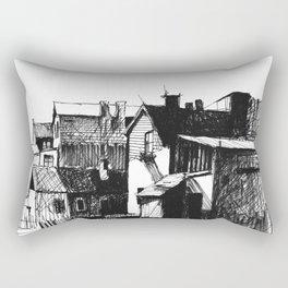ARCHITECTURE PEN & INK DRAWING Rectangular Pillow