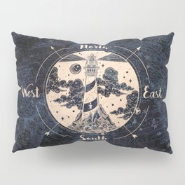 Compass World Star Map Pillow Sham