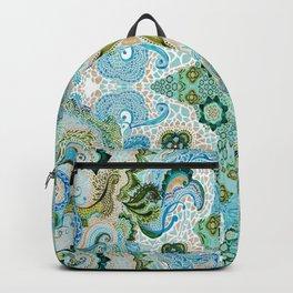 Flower Mosaic - by Fanitsa Petrou Backpack