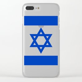 Flag of the State of Israel - High Quality Image Clear iPhone Case