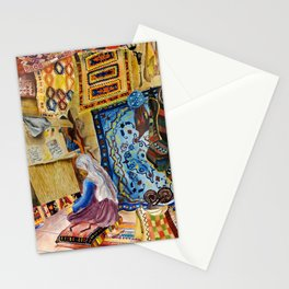 Turkish Rug Weaver by Nadia J Art Stationery Cards