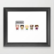 The Big Bang Theory Pixel Characters Framed Art Print
