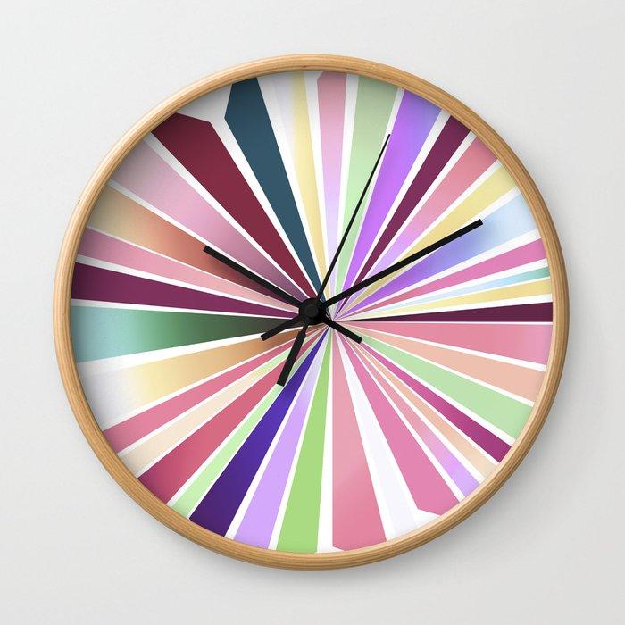 70ies flower No. 1 Wall Clock