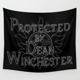 Protected by Dean Winchester Wall Tapestry