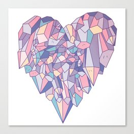 crystal heart ♥ Canvas Print