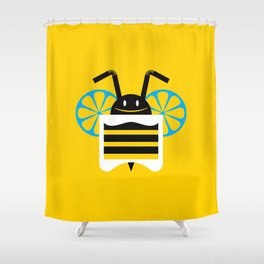 BeeVerage Shower Curtain