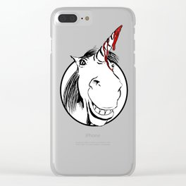 Happy Unicorn Clear iPhone Case