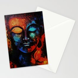 Lord Buddha Abstract Art Stationery Cards