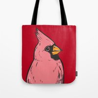 cardinal Tote Bags featuring Cardinal by turddemon