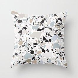 Scandi Terrazzo / Clean, Minimal, Neutral Throw Pillow