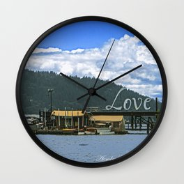Love Harbor Wall Clock