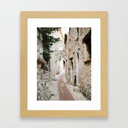 Eze Village - Alley Framed Art Print