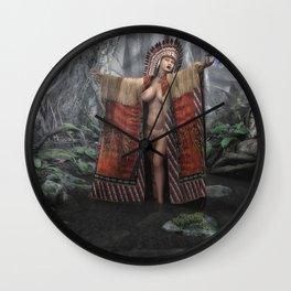 Indian Princess Wall Clock