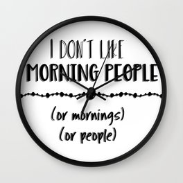 Mornings or People Wall Clock