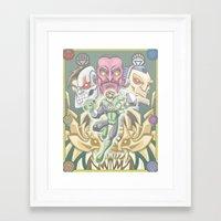 green lantern Framed Art Prints featuring Lantern by Fernando Cano Zapata