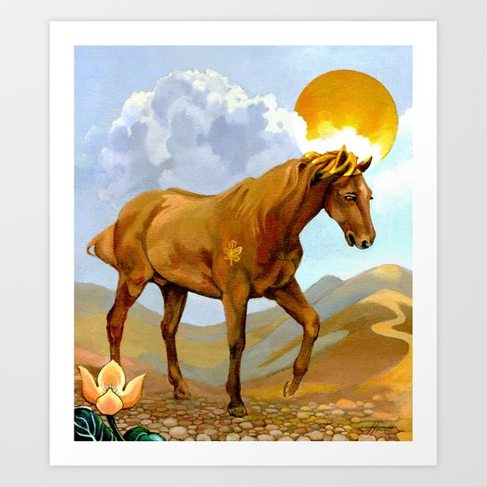 The Sun King - Thoroughbred Stallion Art Print