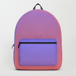 Color gradient 3. Pink and blue.abstraction,abstract,minimalism,plain,ombré Backpack