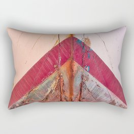 Red Boat Hull Wooden Boats Fishing Fisherman Seafood Painted Wood Vintage Weathered Nautical Beach O Rectangular Pillow