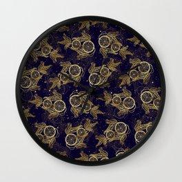 Pretty Dreamcatcher faux gold metal pattern Wall Clock